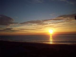 Sunrise from our balcony; Cocoa Beach and the Atlantic Ocean!!!