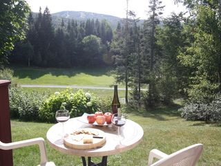 Bretton Woods townhome photo - Sit on the back deck and enjoy the view while you grill dinner.
