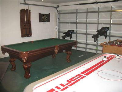 Games Room with Darts, Pool, Air and FoosBall Tables