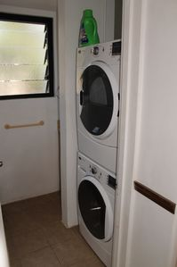 New energy efficient washers and dryers are en suite in each unit.