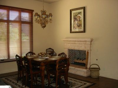 Formal Dining with Gas Fireplace