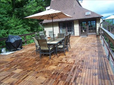Large Deck for Dining and Reclining