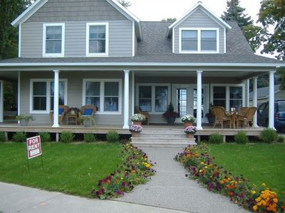 Northport house rental - THE BEACH HOUSE SITS ON A CORNER LOT WITH VIEWS OF THE BAY