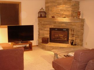 "Bozeman house photo - Games, piano, TV (46"") and more in our family room!"