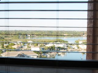 Redington Shores condo photo - View from the desk over Boca Ciega.