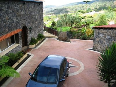 Calheta villa rental - Driveway and front entrance to house