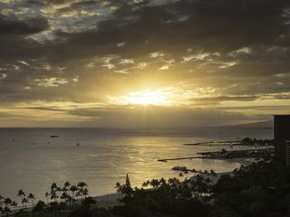 Honolulu condo photo - Sunsets are spectacular from Trump Waikiki 2503! Sailboats race every Friday.