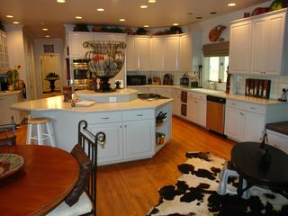 Big Canoe house photo - Huge stainless appliance kitchen & island/range with deck access & lake views.