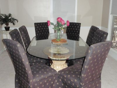 Sea Pines house rental - Dining Room with Seating for eight and room for more