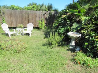 St. Augustine Beach house photo - Private sunny back yard