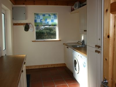 Waterville house rental - LARGE UTILITY ROOM WITH WASHING MACHINE & DRYER