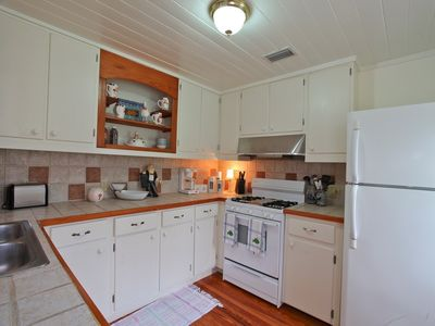 Kitchen fully equipped with dishwasher, microwave, gas stove-all cookware/dishes