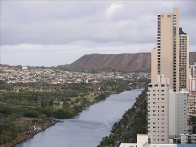 Diamond Head and Ala wai canel view from Unit B.
