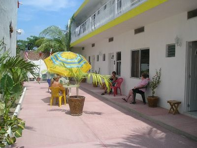 Barra de Navidad apartment rental - Courtyard area