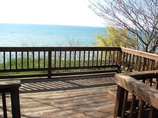 South Haven cottage photo - Association Deck 1/2 blk from home. Steps descend to lake from here.