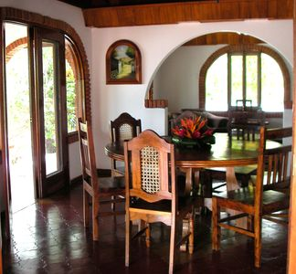 Indoor Dining Room at Casa de la Playa Vacation Home, Flamingo, Costa Rica