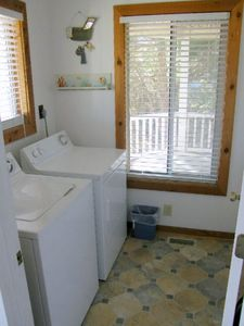 Full size Washer and Dryer, Iron, ironing board and extra linens, Beach Towels.