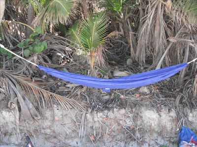 Hammock on Zoni Beach with the waves lolling you to sleep. A beach bum's dream.