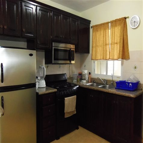 Fully Equipped Kitchen with Blender, Microwave, Toaster and Coffee Machine