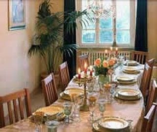 Lavishly appointed dining room