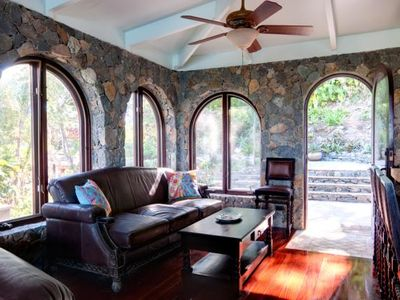 Cinnamon Bay villa rental - South Side of Great Room to the Tropical Gardens