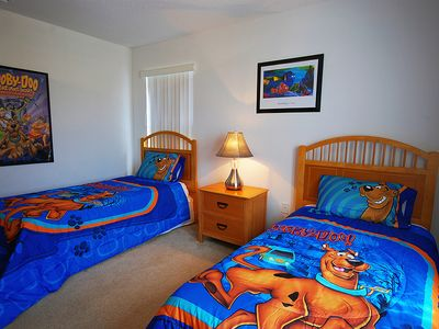 Scooby Doo themed twin room.