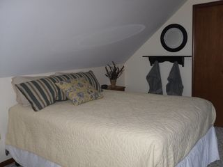 Oscoda house photo - upstairs lakeside bedrom - queen