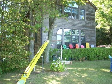 South Haven house rental - Front of House Facing the Lake (100' Lakefront)