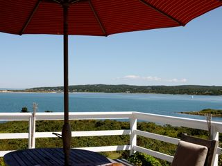Chilmark house photo - View of Menemsha Pond from the deck