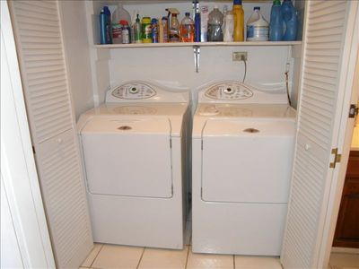New high capacity washer and dryer.