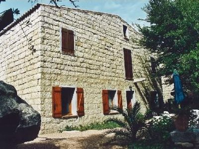 Traditional Corsican stone house in Figari