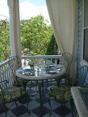 Charleston apartment photo - Dining al fresco on the porch: AptB
