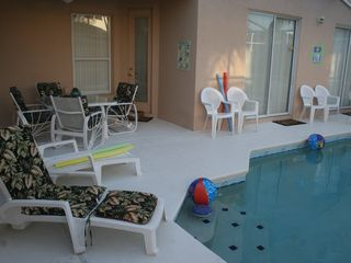 Tuscan Hills villa photo - 3 separate entrances to the pool area with seating for 12 ! F-U-N in the S-U-N