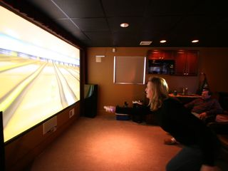 Philadelphia estate photo - Play Wii and Xbox kinect on a 12 foot HD theater with DTS surround sound