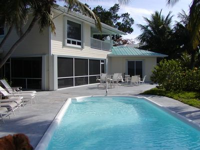 Waterside of Manatee Bay House - Pool & Patio
