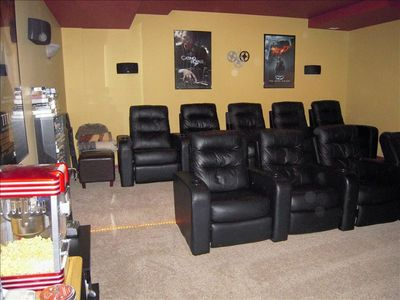 Enjoy a Night at the Movies in the Theatre Room