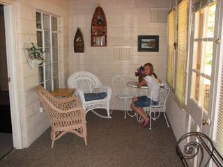 Kalkaska cottage photo - Enclosed porch