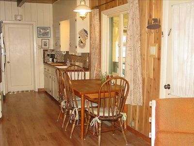 Sierra Tract cabin rental - Kitchen has double oven, electric range and microwave