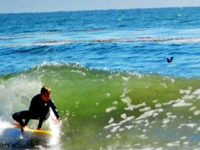 Santa Cruz house rental - Great waves for body and board surfing!