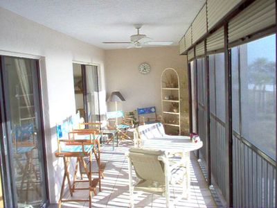 Fort Myers Beach condo rental - Huge porch over looking the Gulf of Mexico.
