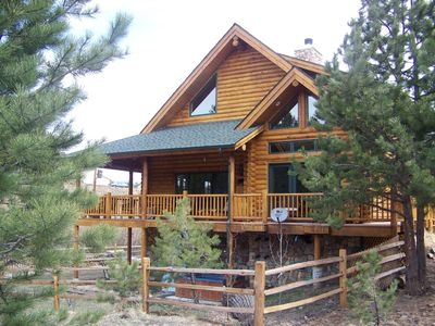 Elegant rustic log home w mtn views creek wildlife for Elegant log homes