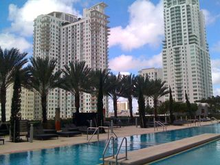 Miami condo photo - Oasis Pool with lounge chairs and cabanas is located on the 10th floor.