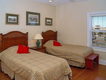 Second floor guest Bedroom with twin beds