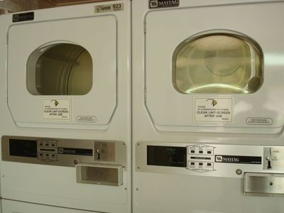 upgraded laundry facility on premises  - only $1 per load