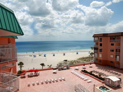 Indian Shores condo rental - Your View From your Balcony! Seating for 4-6.