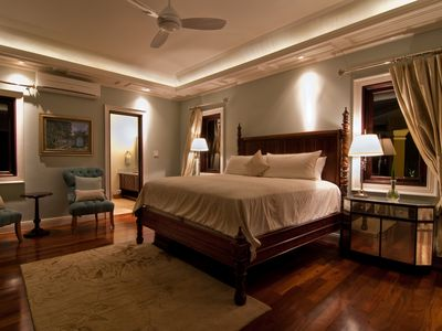 At night or anytime enjoy luxurious bedrooms with ceiliing fan and air condition