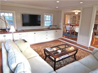 Harwich - Harwichport house photo - The sunken TV room features a new flat screen and sectional