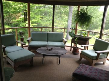 Circular screened-in porch