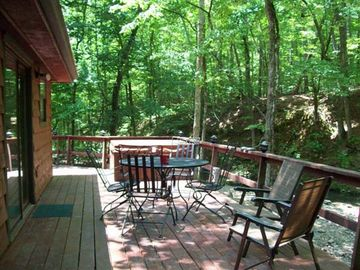 Large Private Deck with Hot Tub.