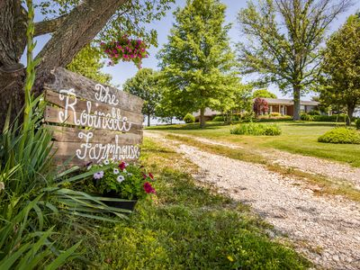 The Robinette House:  Endless view of rolling farmland